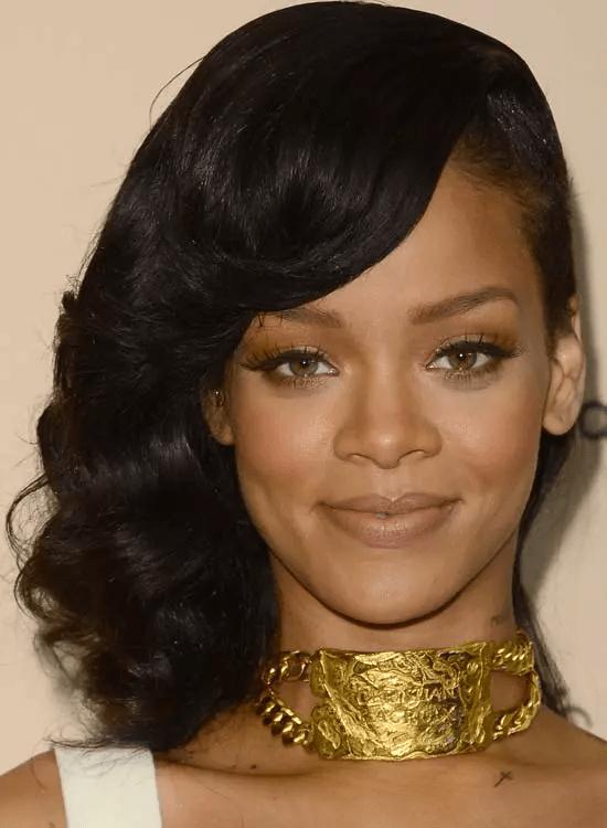 Side-Shaved-Medium Best Rihanna Hairstyles