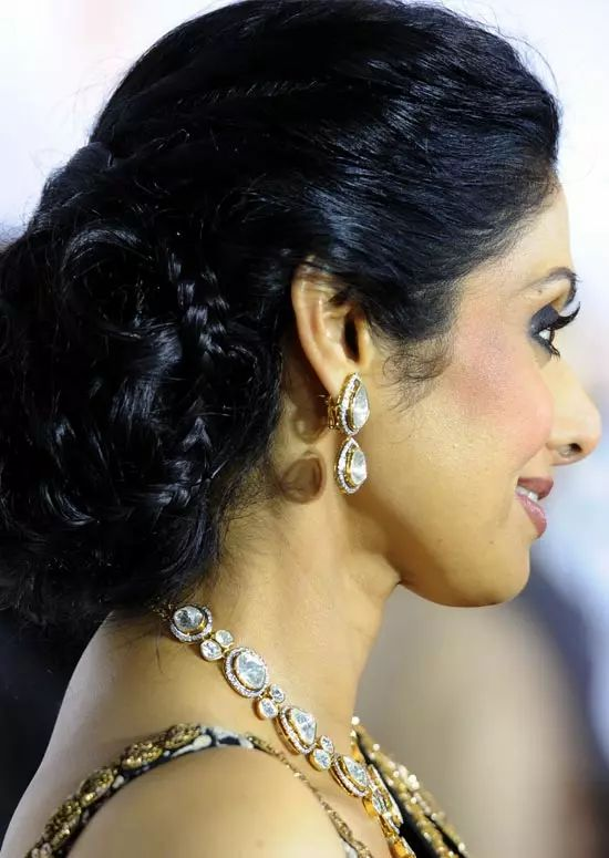 Sridevi Top Indian Actresses With Stunning Long Hair