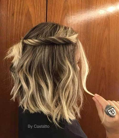 Twisted-Braid Really Stylish Easy Updos for Short Hair