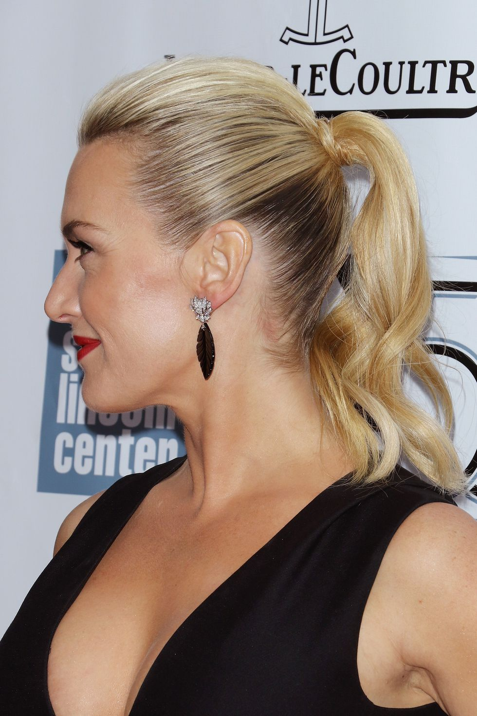Two-Toned-Stylish-Pony-with-Curly-Ends Christmas Party Hairstyles to Enhance Your Look