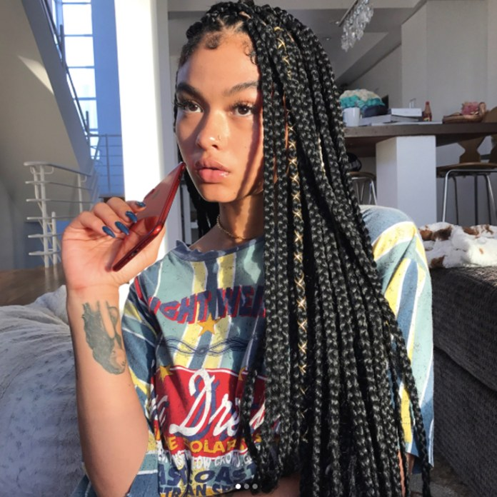 Wired-Knotless-Box-Braid-Hairstyle Cool and Trendy Knotless Box Braids Styles