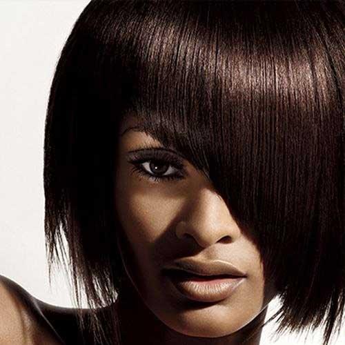 Asymmetrical-Short-Hair-with-Bangs-for-Black-Ladies New Short Hairstyles With Bangs For Black Women