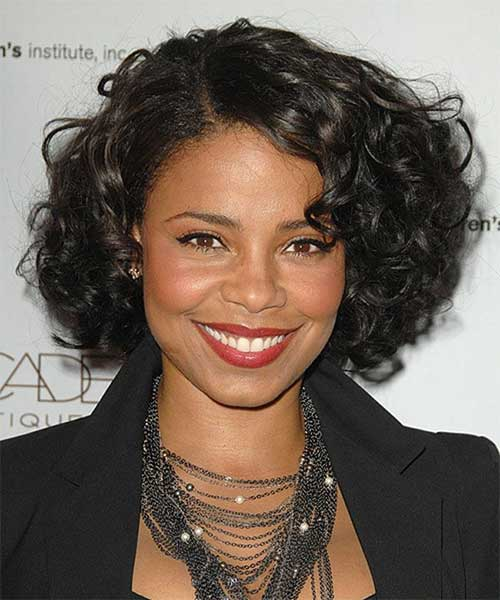 Black-Hairstyle-with-Bob-Cut-for-Curly-Hair Best Bob Cuts for Curly Hair