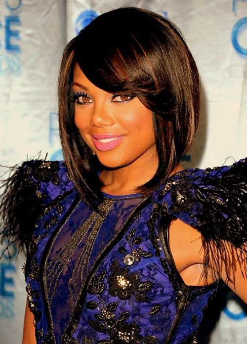 Black-Women-New-Bob-Hairstyle-with-Bangs New Short Hairstyles With Bangs For Black Women