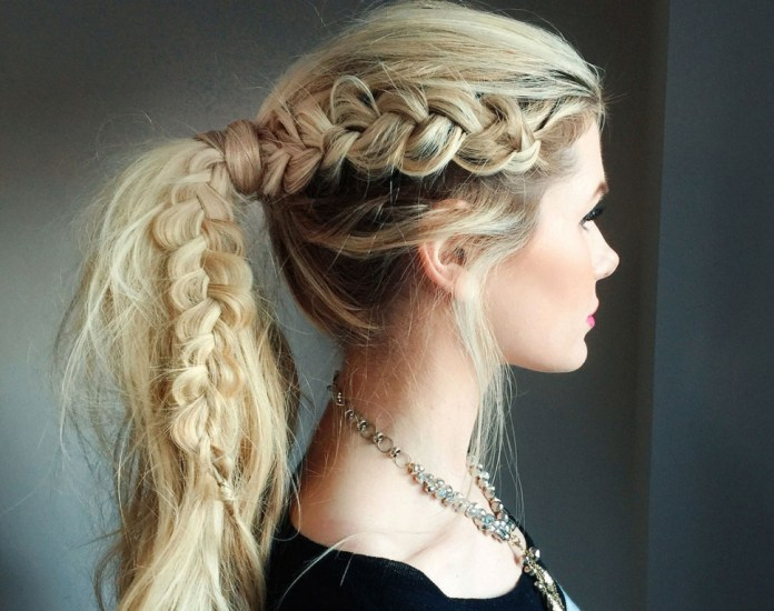 Blonde-Braids-on-Long-Hair Contemporary Hairstyles for an Amazing Appearance