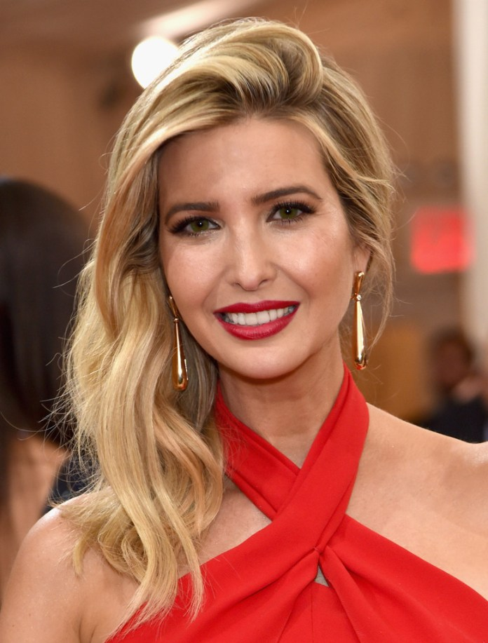 Blonde-Hair-with-a-Side-Parting Very Attractive Ivanka Trump Hairstyles