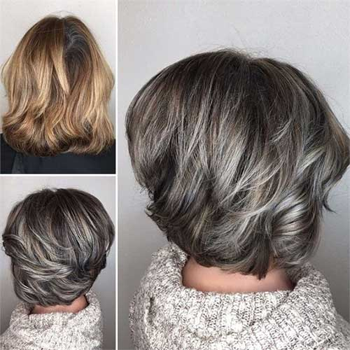 Bob-Haircut-for-Over-50 Short Haircuts for Older Women 2019