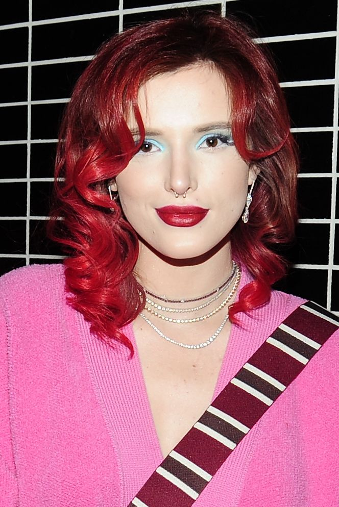 Bold-Red-Hair Cute Homecoming Hairstyles for Astonishing Look