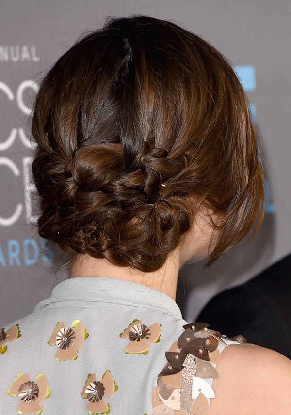 Braided-Bunch-Bun Hot and Happening Girls Hairstyles for Party