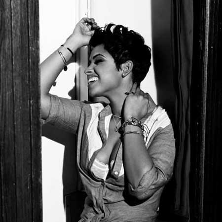 Cool-and-Charming-Pixie-Cut-with-Nice-Spikes-at-the-Top Short Hairstyles for Black Women 2020