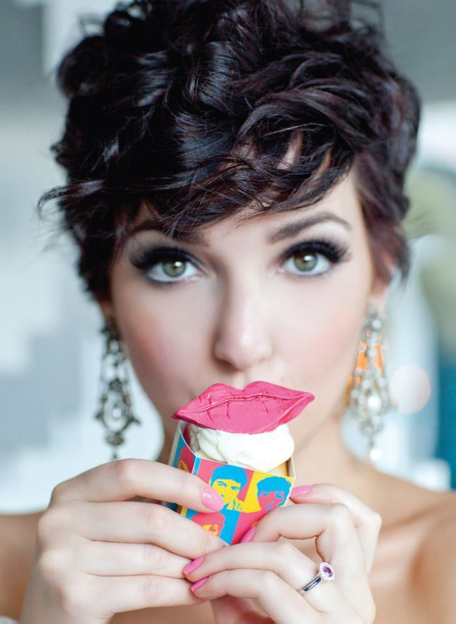 Curly-Pixie-Cut Cute Curly Hairstyles for Women