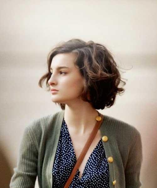 Cute-Short-Haircut-for-Thick-Brown-Hair Cute Short Hairstyles For Thick Hair