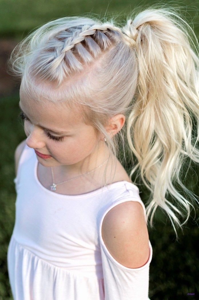 Dutch-Braided-Ponytail Cute Hairstyles for Girls to Look Charismatic