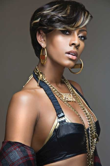 Fabulous-and-Charming-Bob-Hair-with-Cool-Strips-of-Light-Brown-Platinum-Blonde-and-Brown Short Hairstyles for Black Women 2020