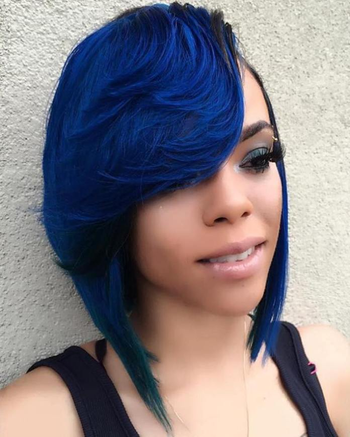 Graduated-Cut-with-Sweeping-Fringe Stunning Ways to Rock a Sew In Bob Hairstyles