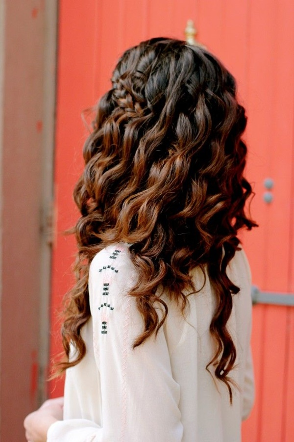 Head-Side-Braids-with-Curly-Waves Hot and Happening Girls Hairstyles for Party