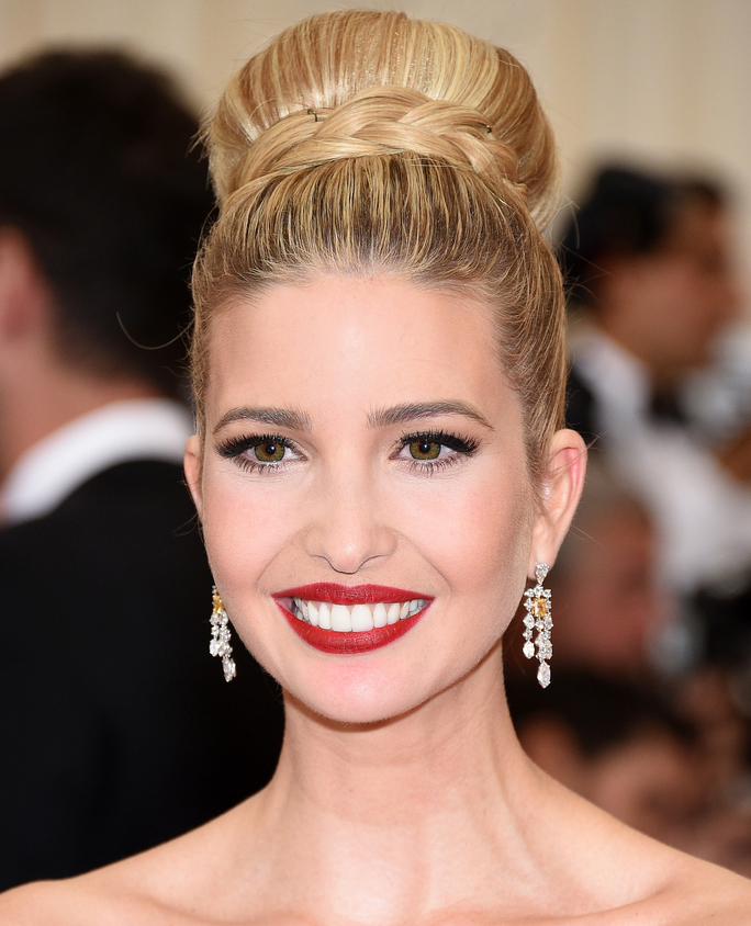High-Tight-Ballerina-Bun Very Attractive Ivanka Trump Hairstyles
