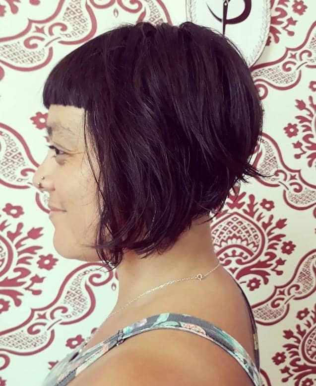 Long-Bob-Balayage-with-Bangs Exotic Messy Bob Hairstyles That Women Love