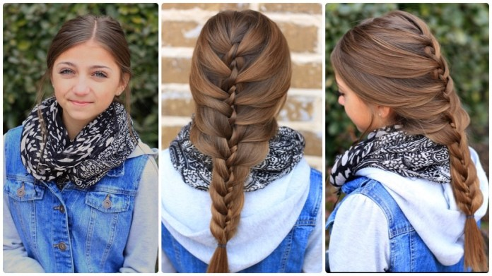 Loose-French-Braid Cute Hairstyles for Girls to Look Charismatic