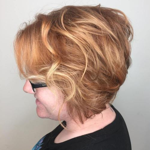 Messy-Blonde-Stacked-Bob Bob Hairstyles for Women Over 50 – Be Hot And Happening