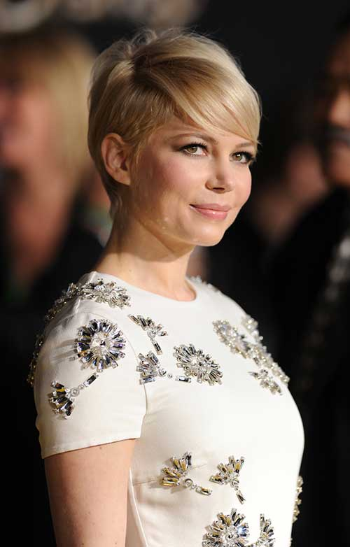 Michelle-Williams-Trendy-Pixie-Style Super Michelle Williams Pixie Haircuts