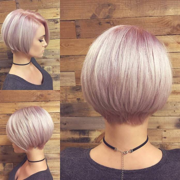Pink-Curved-Bob Contemporary Hairstyles for an Amazing Appearance