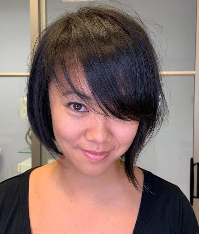Short-A-line-Bob Exotic Messy Bob Hairstyles That Women Love