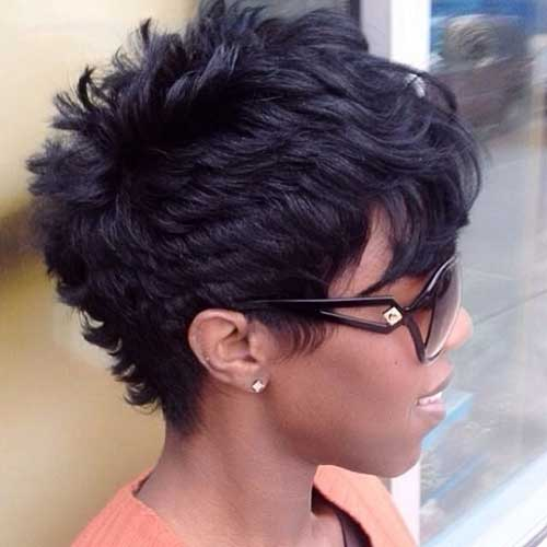 Short-Curly-Pixie-Hairstyle-with-Bangs-for-Black-Women New Short Hairstyles With Bangs For Black Women