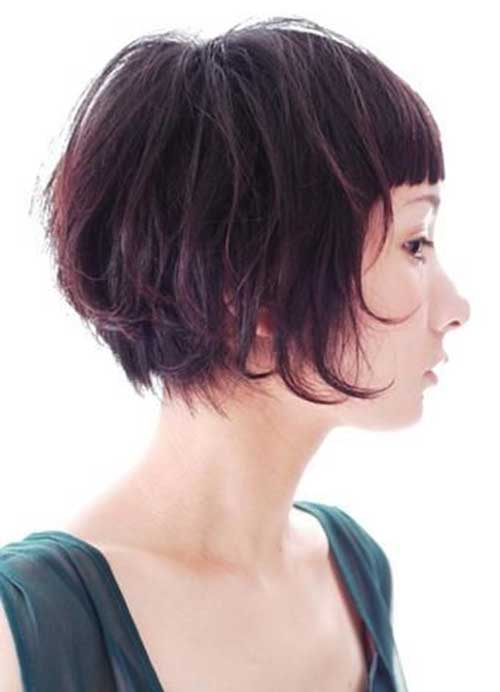Short-Cute-Bob-Hairstyle-for-Thick-Hair-Cut Cute Short Hairstyles For Thick Hair