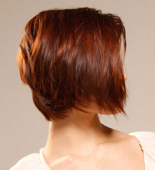 Short-Cute-Hairstyle-for-Thick-Red-Hair-Side-View Cute Short Hairstyles For Thick Hair