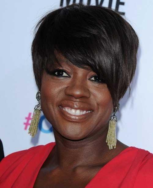 Short-Dark-Brown-Hair-with-Bangs-for-Black-Women New Short Hairstyles With Bangs For Black Women