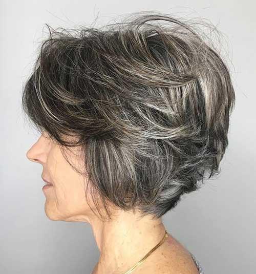 Short-Layered-Hair-for-Older-Women Short Haircuts for Older Women 2019