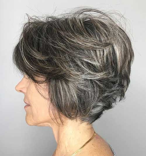 Short-Layered-Hair-for-Older-Women Short Haircuts for Older Women 2019