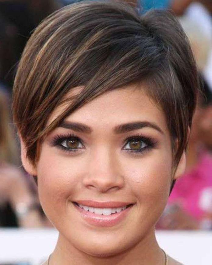 Short-Pixie-Cut Most Ravishing Hairstyles for Double Chin