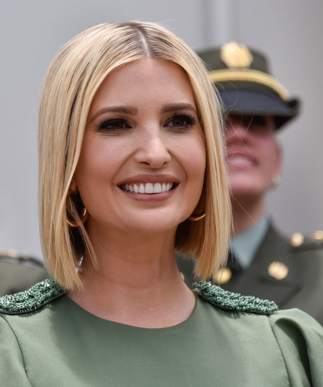 Short-Straight-Hair Very Attractive Ivanka Trump Hairstyles