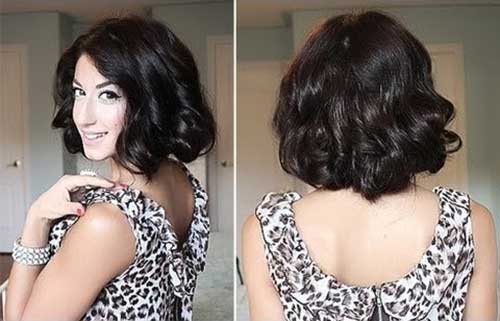 Simply-Long-Curly-Bob-Hair-Cut Best Bob Cuts for Curly Hair