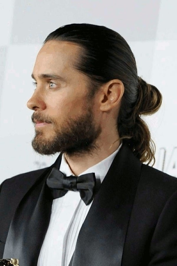 Sleek-Bun-and-Ponytail Stylish Wedding Hairstyles for Men