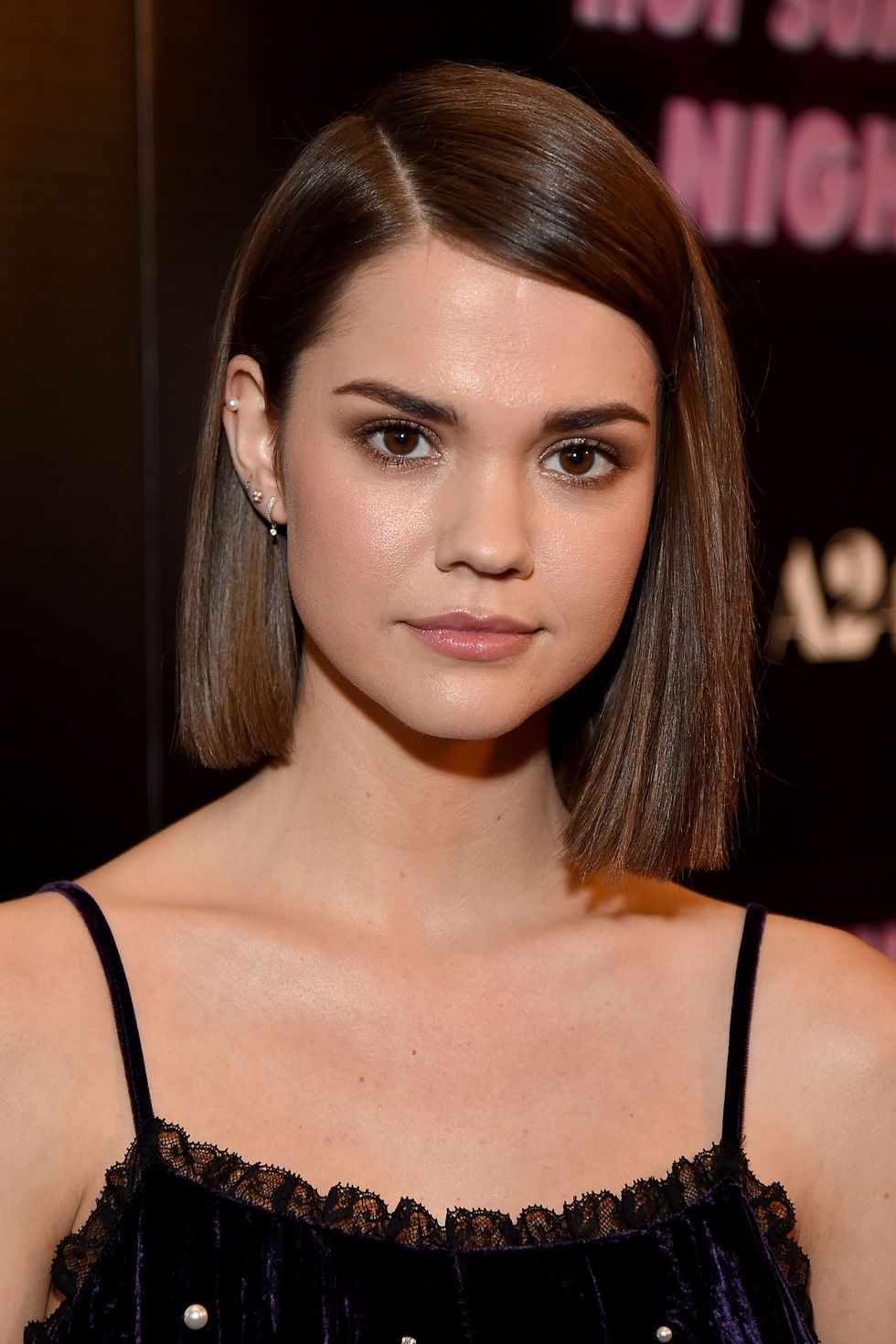 Sleek-Side-Parted-Bob Cute Homecoming Hairstyles for Astonishing Look