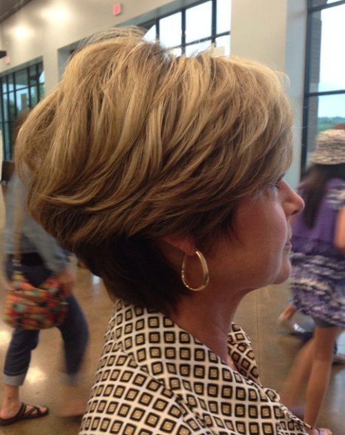 Tapered-Blonde-Bob-Haircut Bob Hairstyles for Women Over 50 – Be Hot And Happening