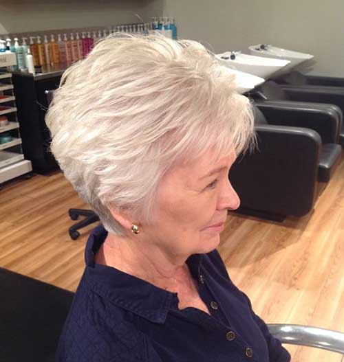 Thick-Pixie Short Haircuts for Older Women 2019