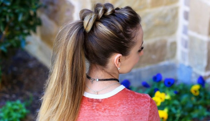 Tied-Dutch-Ponytail Cute Hairstyles for Girls to Look Charismatic