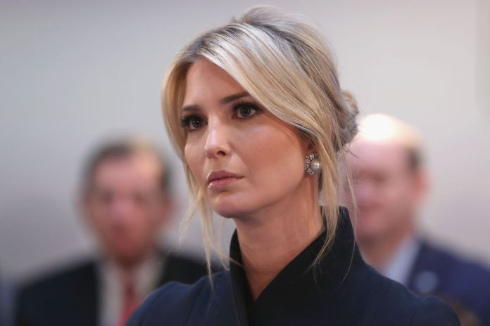 Tied-Up-Low-Bun-with-Bangs Very Attractive Ivanka Trump Hairstyles