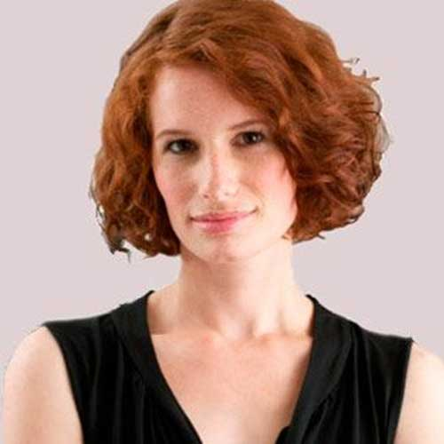 Very-Nice-Ginger-Short-Curly-Hairstyle Best Bob Cuts for Curly Hair