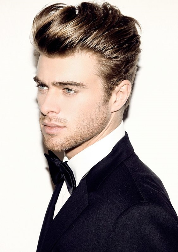 Voluminous-at-The-Center-Hairstyle Stylish Wedding Hairstyles for Men