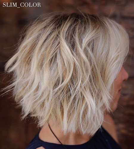 WHITE-MANE-FOR-CASUAL-LOOK Short Messy Bob Hairstyles 2020