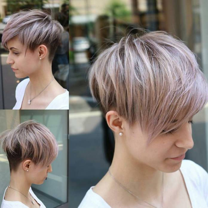 Angled-Pixie-Cut-with-Long-Layers Short Hair Trends for Stylish and Gorgeous Look
