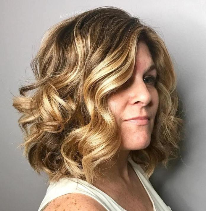 Big-Sun-Kissed-Curls Gorgeous Hairstyles and Haircuts for Women Over 40