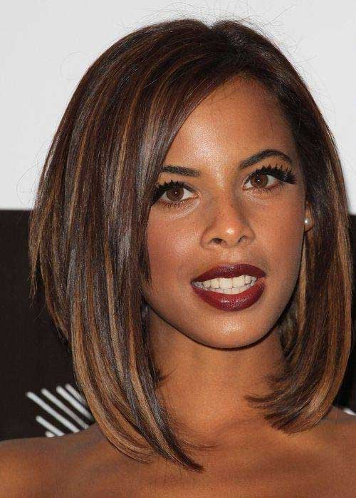 Black-Girl-with-Layered-Bob-Cut-Hairstyle Black Girl Bob Hairstyles