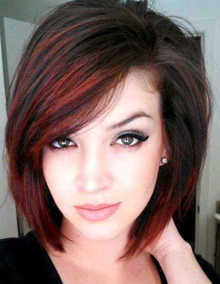 Black-Hair-with-Red-Highlights-for-Girls Short Hair Colors Ideas 2020