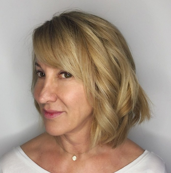 Blonde-Bombshell Gorgeous Hairstyles and Haircuts for Women Over 40